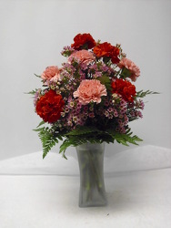 Carnations vased from Beck's Flower Shop & Gardens, in Jackson, Michigan