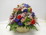 Lg Basket Arr. from Beck's Flower Shop & Gardens, in Jackson, Michigan