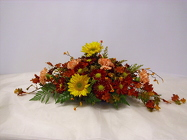 Fall Table Centerpiece from Beck's Flower Shop & Gardens, in Jackson, Michigan