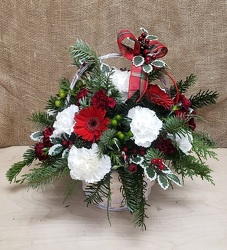 HOLIDAY BASKET from Beck's Flower Shop & Gardens, in Jackson, Michigan