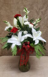 HOLIDAY VASE ARR. from Beck's Flower Shop & Gardens, in Jackson, Michigan