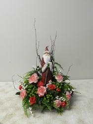 Santa Arrangement from Beck's Flower Shop & Gardens, in Jackson, Michigan