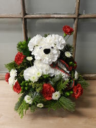 Christmas Pup from Beck's Flower Shop & Gardens, in Jackson, Michigan