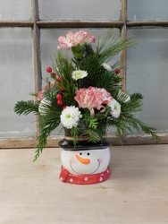 Snowman Arrangement from Beck's Flower Shop & Gardens, in Jackson, Michigan