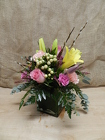 MIX CUBE ARRANGEMENT from Beck's Flower Shop & Gardens, in Jackson, Michigan