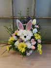 Easter Puppy from Beck's Flower Shop & Gardens, in Jackson, Michigan