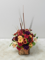 Fall Cube from Beck's Flower Shop & Gardens, in Jackson, Michigan