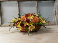 Fall Centerpiece from Beck's Flower Shop & Gardens, in Jackson, Michigan