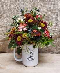 Fall Michigan Mug from Beck's Flower Shop & Gardens, in Jackson, Michigan