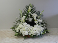 Urn Memorial Arrangement from Beck's Flower Shop & Gardens, in Jackson, Michigan
