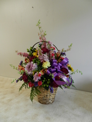 Funeral Basket from Beck's Flower Shop & Gardens, in Jackson, Michigan