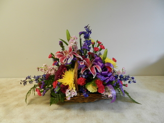 Fireside Basket from Beck's Flower Shop & Gardens, in Jackson, Michigan