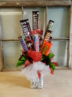 Candy Bouquet from Beck's Flower Shop & Gardens, in Jackson, Michigan