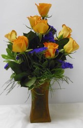 Dozen Yellow Roses from Beck's Flower Shop & Gardens, in Jackson, Michigan