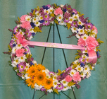 Spring Wreath from Beck's Flower Shop & Gardens, in Jackson, Michigan
