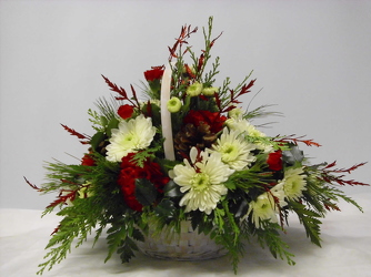 Med.Christmas Basket from Beck's Flower Shop & Gardens, in Jackson, Michigan
