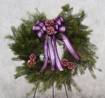 Wreath from Beck's Flower Shop & Gardens, in Jackson, Michigan