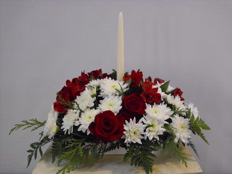 One Candle Centerpiece from Beck's Flower Shop & Gardens, in Jackson, Michigan