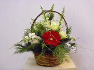 Christmas Basket from Beck's Flower Shop & Gardens, in Jackson, Michigan