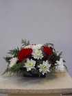 Small Christmas Centerpiece from Beck's Flower Shop & Gardens, in Jackson, Michigan