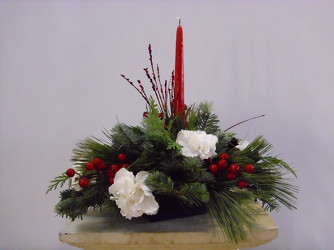 One Candle Christmas Centerpiece