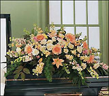 Peach Comfort Half-Couch from Beck's Flower Shop & Gardens, in Jackson, Michigan