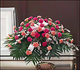 Delicate Pink Casket Spray from Beck's Flower Shop & Gardens, in Jackson, Michigan