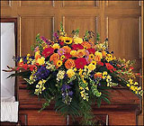 Celebration of Life Casket Spray from Beck's Flower Shop & Gardens, in Jackson, Michigan