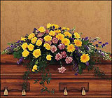 Eternal Hope Casket Spray from Beck's Flower Shop & Gardens, in Jackson, Michigan