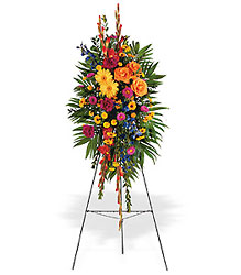 Celebration of Life Standing Spray from Beck's Flower Shop & Gardens, in Jackson, Michigan