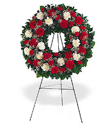 Hope and Honor Wreath from Beck's Flower Shop & Gardens, in Jackson, Michigan
