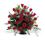 Blooming Red Roses Basket from Beck's Flower Shop & Gardens, in Jackson, Michigan