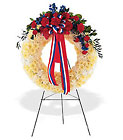 Patriotic Spirit Wreath from Beck's Flower Shop & Gardens, in Jackson, Michigan