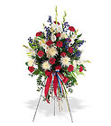 Patriotic Spirit Spray from Beck's Flower Shop & Gardens, in Jackson, Michigan